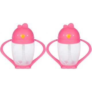 Lollacup Infant And Toddler Straw Cup - 2 Pack - Pink
