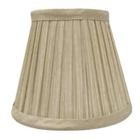 """Royal Designs Chandelier Lamp Shade - 3"""" x 5"""" x 4.5"""" - Pleated Empire - Beige - Clip-On - 3 x 5 x 4.5"""