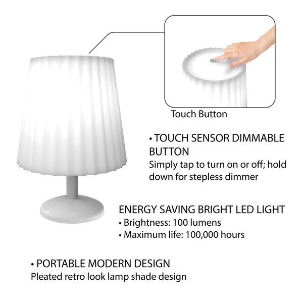 Touch Sensor Lamp Dimmable Battery Operated Led Light