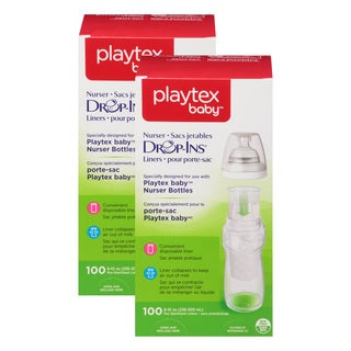 Playtex 05544 10 Oz Drop In Disposable Baby Bottle Liners 100 Count (Pack of 2)