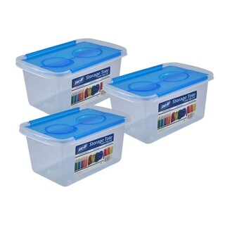 Stor-All Solutions Storage Tote with Flip Lid- 3 Pack