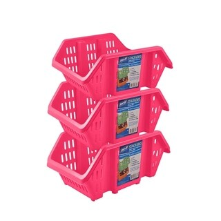 Stor-All Solutions Stack-Em's-Stackable Storage Bins- 3 Pack