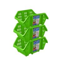 Stor-All Solutions Stack-Em's-Stackable Storage Bins- 3 Pack