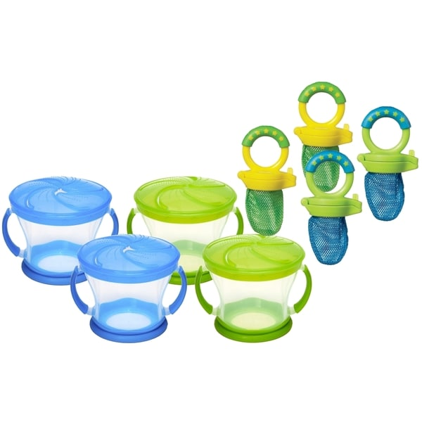 Munchkin 4 Count Snack Catchers with 4 Count Fresh Food Feeders 32491058