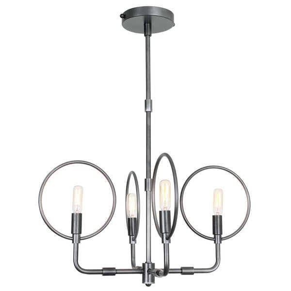 Van Teal Forties Chrome-finished Metal 4-light Cage Chandelier - Chrome