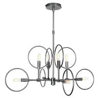 Van Teal Eighties Chrome-finished Metal 8-light Chandelier - Chrome