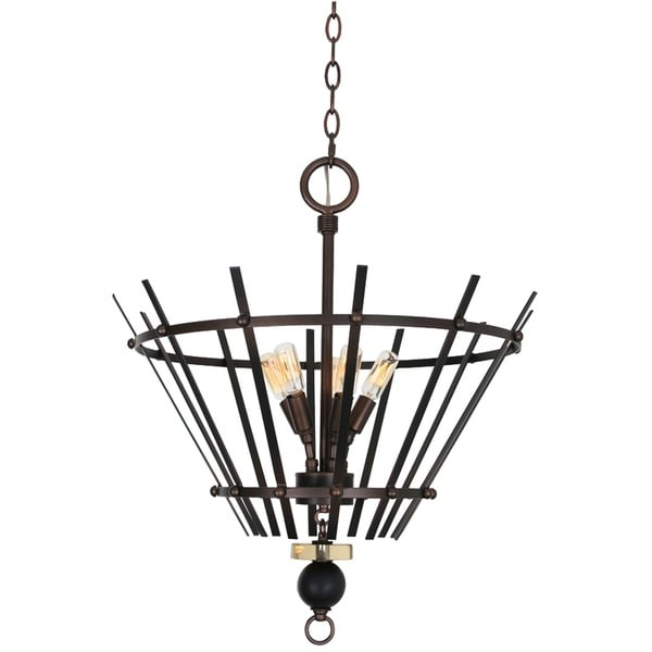 Van Teal Elisa Bronze Metal Dimmable Chandelier