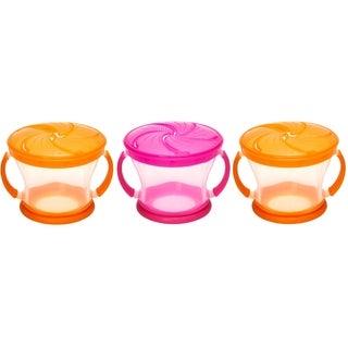 Munchkin Snack Catcher - 3 Pack - Orange/Pink/Orange