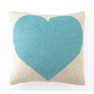 Light Blue Heart Hook Pillow