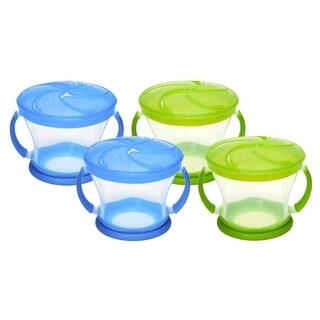Munchkin Snack Catcher - 4 Pack - Green/Blue