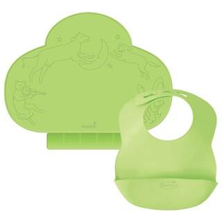 Kiddopotamus Tiny Diner & Bibbity Gift Set - Green