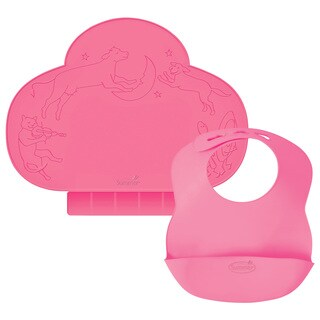 Kiddopotamus Tiny Diner & Bibbity Gift Set - Pink