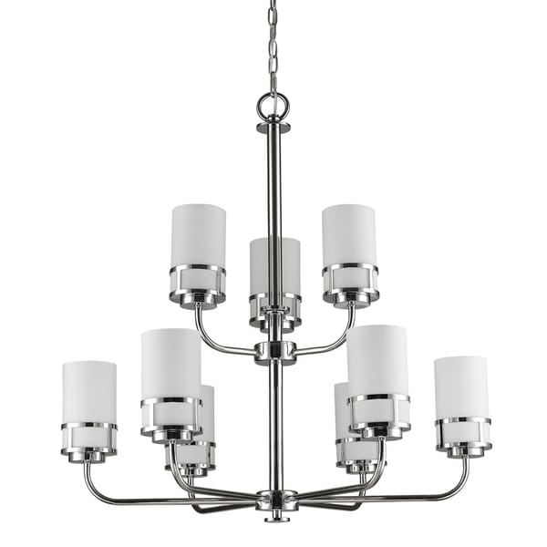 Acclaim Lighting Alexis Indoor 9-Light Chandelier With Glass Shades In Polished Nickel