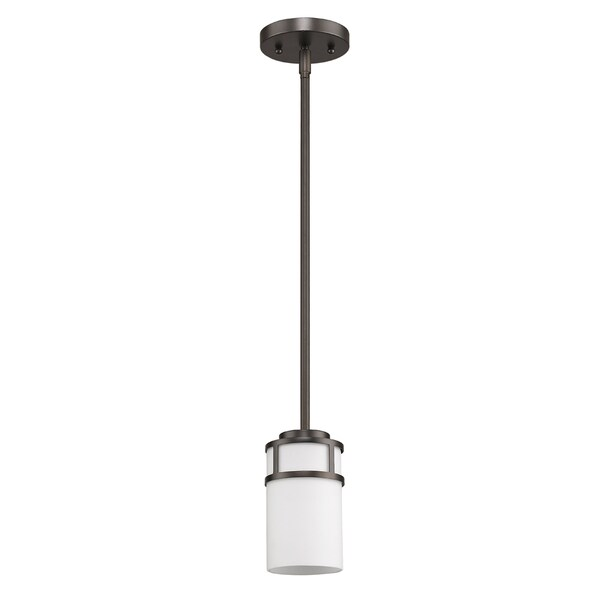 Acclaim Lighting Alexis Indoor 1-Light Pendant With Glass Shade In Oil Rubbed Bronze