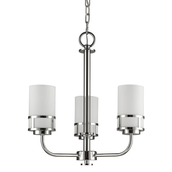 Acclaim Lighting Alexis Polished NIckel Metal Indoor 3-light Mini Chandelier with Glass Shades