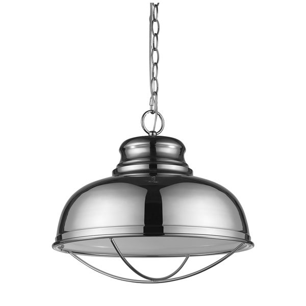 Acclaim Lighting Ansen Polished Nickel Indoor 1-Light Pendant with Metal Shade
