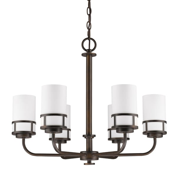 Acclaim Lighting Alexis Oil-rubbed Bronze Metal 21-inch Indoor 6-light Chandelier with Opal Glass Shades