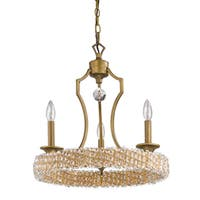 Acclaim Lighting Ava Raw Brass Steel/Crystal 3-light Mini Chandelier