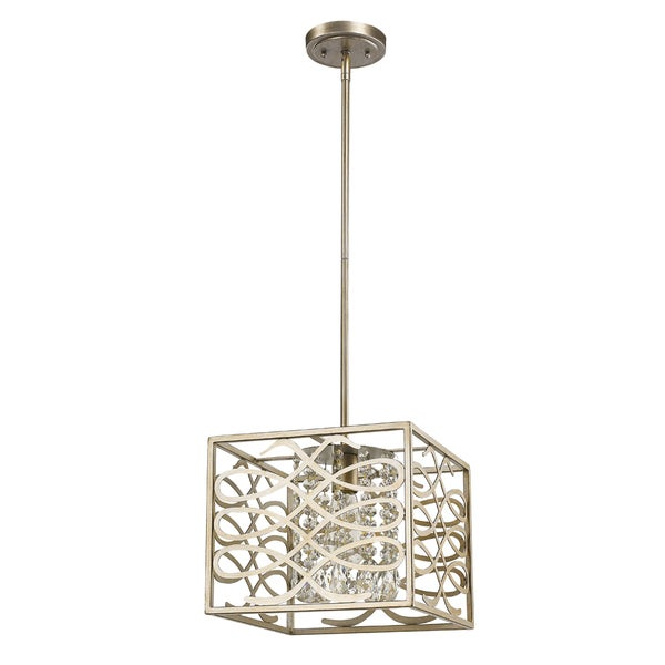 Acclaim Lighting Brax Crystal Accent Washed Gold Indoor 1-light Pendant