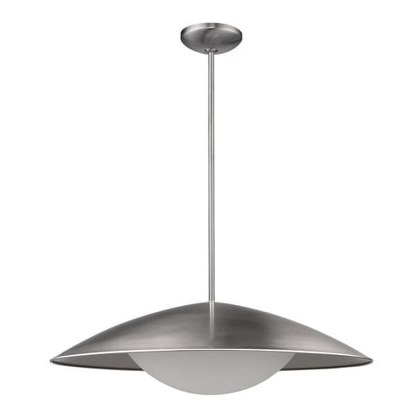 Acclaim Lighting Aurora Indoor LED Pendant With Satin Nickel Metal Shade