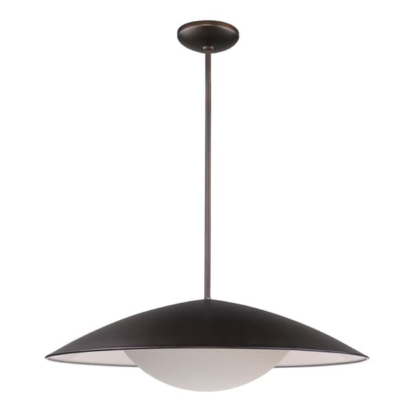 Acclaim Lighting Aurora Oil Rubbed Bronze Finish Opal Glass Indoor LED Pendant