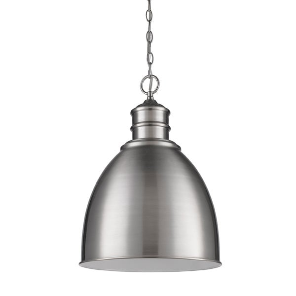 Acclaim Lighting Colby Satin Nickel Metal Shade Indoor 1-light Pendant