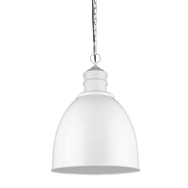 Acclaim Lighting Colby White Metal 1-light Bowl Pendant