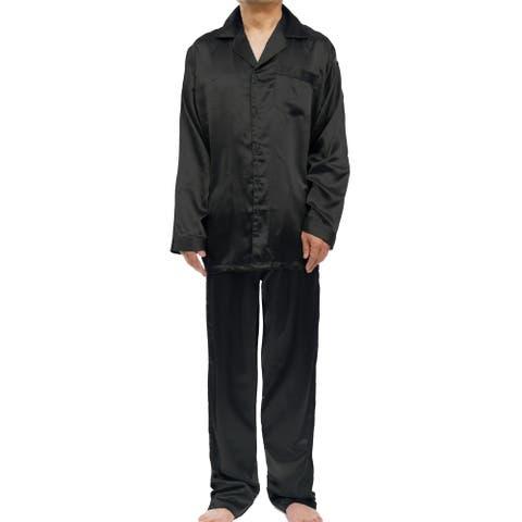 Leisureland Men's Stretch Satin Pajama Set