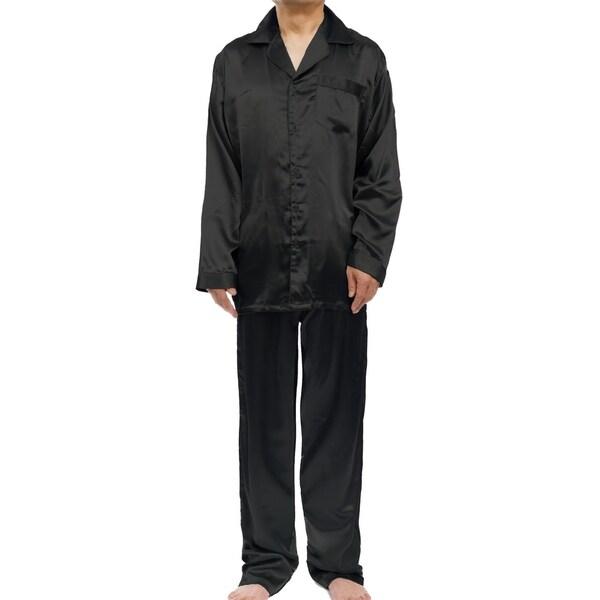 Leisureland Mens Stretch Satin Pajama Set by  Today Only Sale