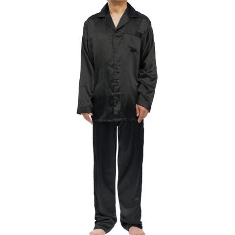 Leisureland Men's Stretch Satin Pajama Set