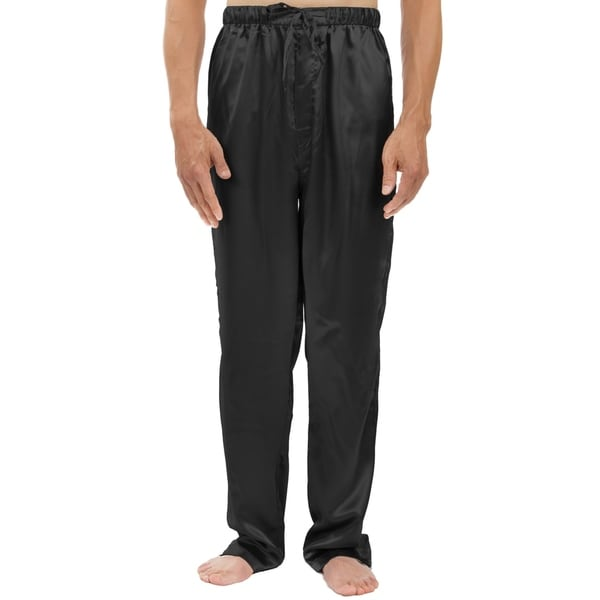 Leisureland Men's Stretch Satin Pajama Pants