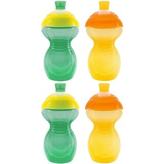 Munchkin Click Lock Bite Proof Sippy Cup - 9 Ounce - Green/Yellow - 4 Count
