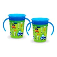 Munchkin Miracle 360 Trainer Cup - Green/Green - 2 Count