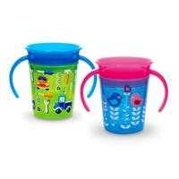 Munchkin Miracle 360 Trainer Cup - Green/Blue - 2 Count
