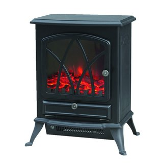 Trustech Electric Stove Heater  Portable Home Fireplace with Log Burning Flame Effect