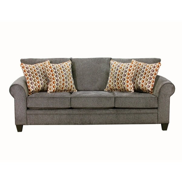 Shop Simmons Upholstery Albany Pewter Queen Sleeper Free