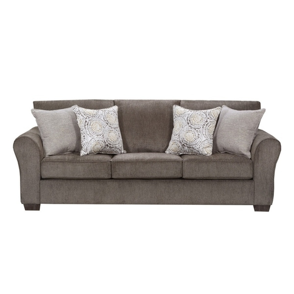 Shop Simmons Upholstery Harlow Ash Queen Sleeper Free