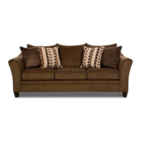 Shop Simmons Upholstery Albany Chestnut Queen Sleeper