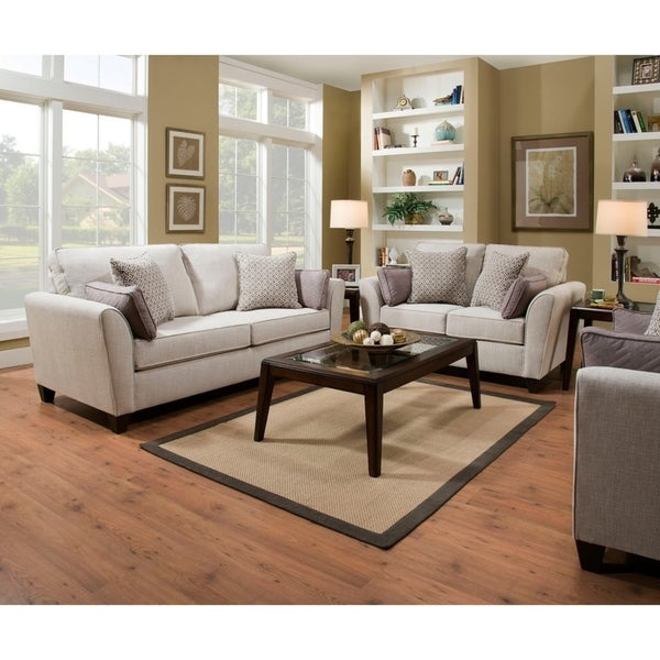 Fabulous Shop Simmons Upholstery Bennington Stone Sofa And Loveseat Gamerscity Chair Design For Home Gamerscityorg