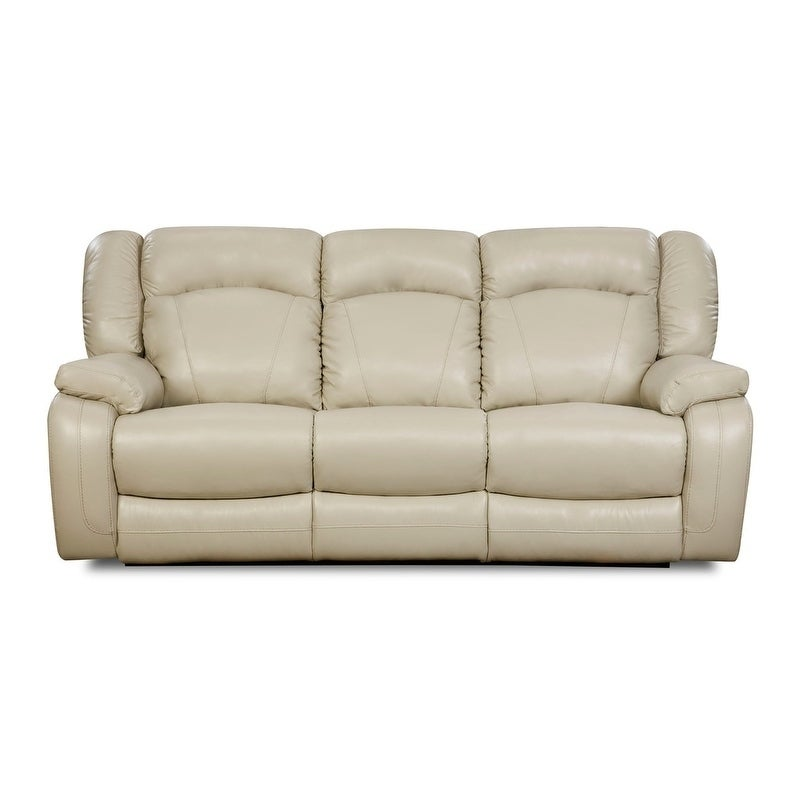 Simmons Upholstery Yahtzee Pearl Double Motion Sofa, Whit...
