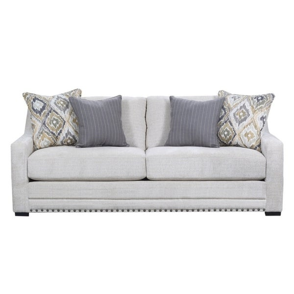 Delightful Simmons Upholstery Thaxton Ivory Sofa