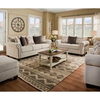 Simmons Upholstery Della Linen Sofa And Loveseat Set