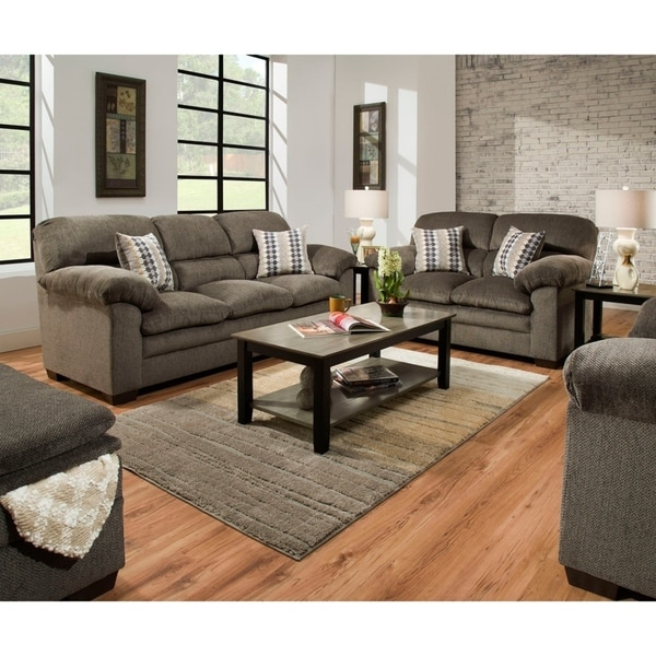 Shop Simmons Upholstery Harlow Ash Sofa And Loveseat Set