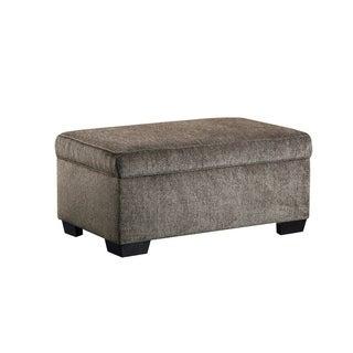 Simmons Upholstery Harlow Ash Storage Ottoman