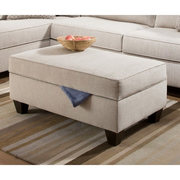 Awesome Simmons Upholstery Bennington Stone Storage Ottoman Caraccident5 Cool Chair Designs And Ideas Caraccident5Info