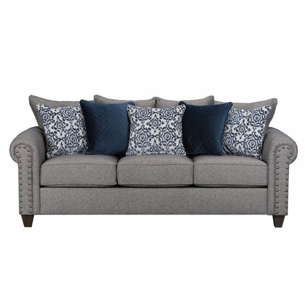 Simmons Sleeper Sofa: Shop Simmons Upholstery Emma Slate Queen Sleeper