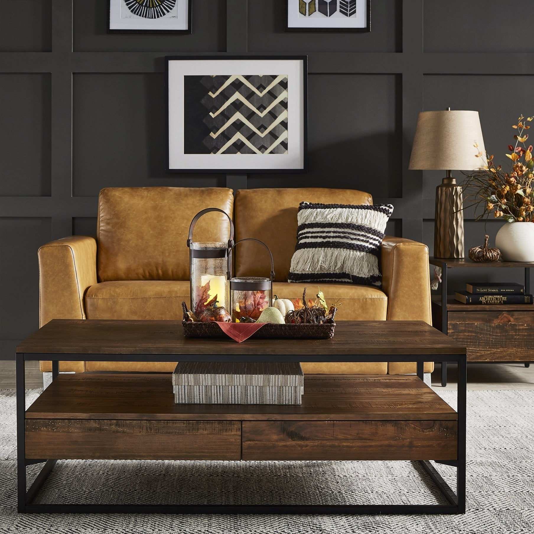 Corey Rustic Brown Accent Tables by iNSPIRE Q Modern