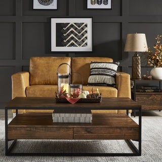 Link to Corey Rustic Brown Accent Tables by iNSPIRE Q Modern Similar Items in Bedroom Furniture