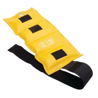 The Cuff Original Adjustable Ankle and Wrist Weight for Yoga, Dance, Running, Walking, Biking, Aerobics, and Physical Therapy. (lemon - 7 pound)