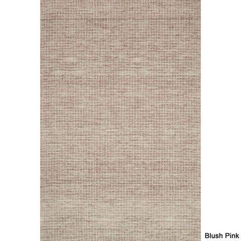 Alexander Home Transitional Earth Tone Wool Mosaic Tile Hand-hooked Area Rug (5' x 7'6) - 5' x 7'6